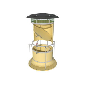 Automatic Recirculation Chimney Dynamic - ARC-D - Yellow
