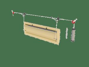 Ventilation - poultry house tunnel inlet 6000-VFG assembly - TPI-Polytechniek