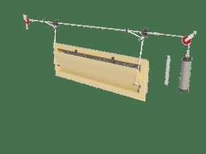 Ventilation - poultry house tunnel inlet 6000-VFR assembly - TPI-Polytechniek