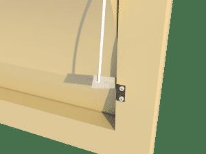 Ventilation - poultry house tunnel inlet 6000-VFG side arm - TPI-Polytechniek