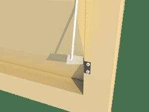 Ventilation - poultry house tunnel inlet 6000-VFR side arm - TPI-Polytechniek