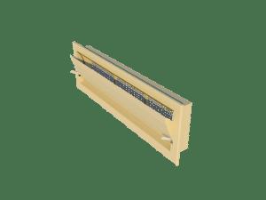 Ventilation - poultry house tunnel inlet 6000-VFR side view - TPI-Polytechniek