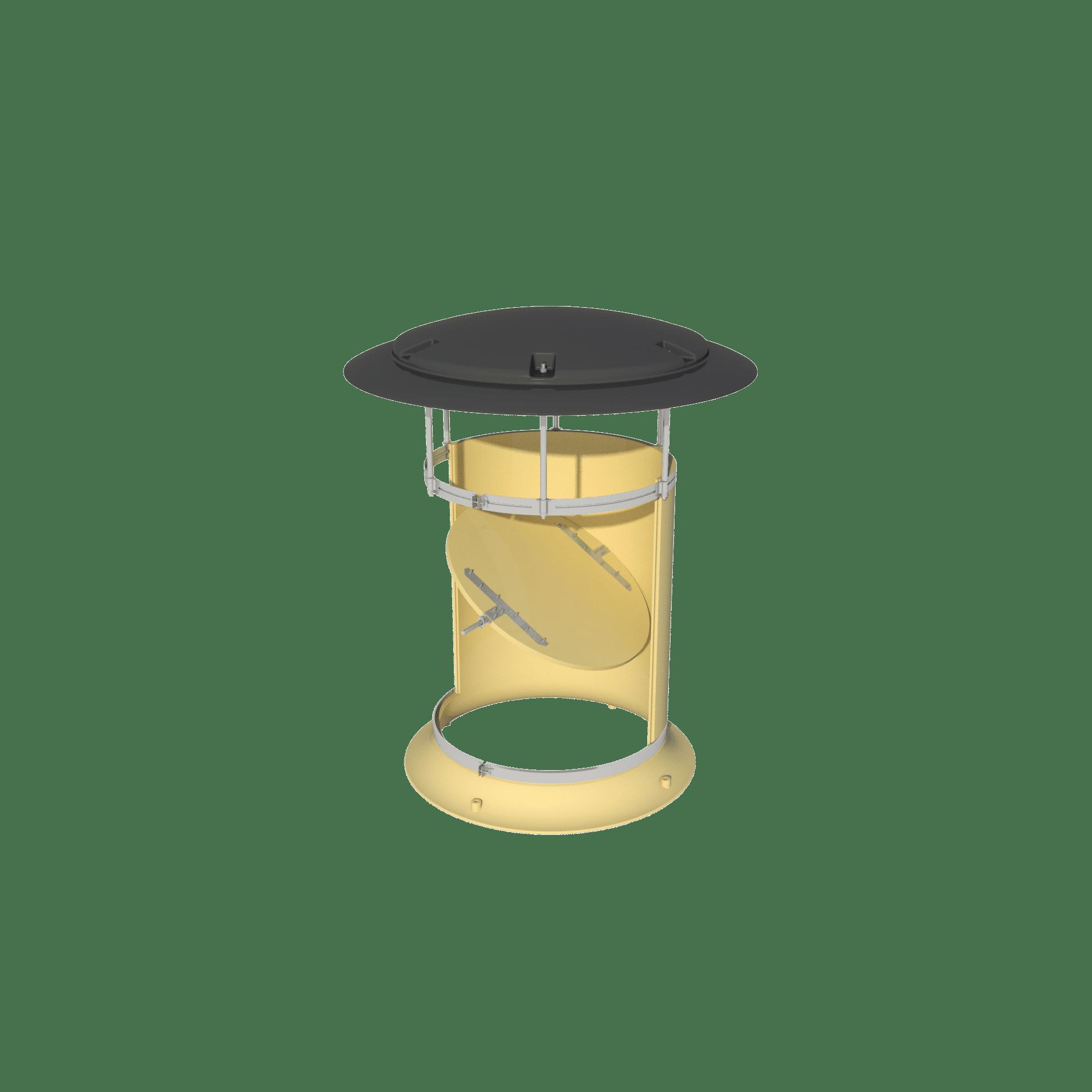 Exhaust chimney with rain cap - TPI-Polytechniek
