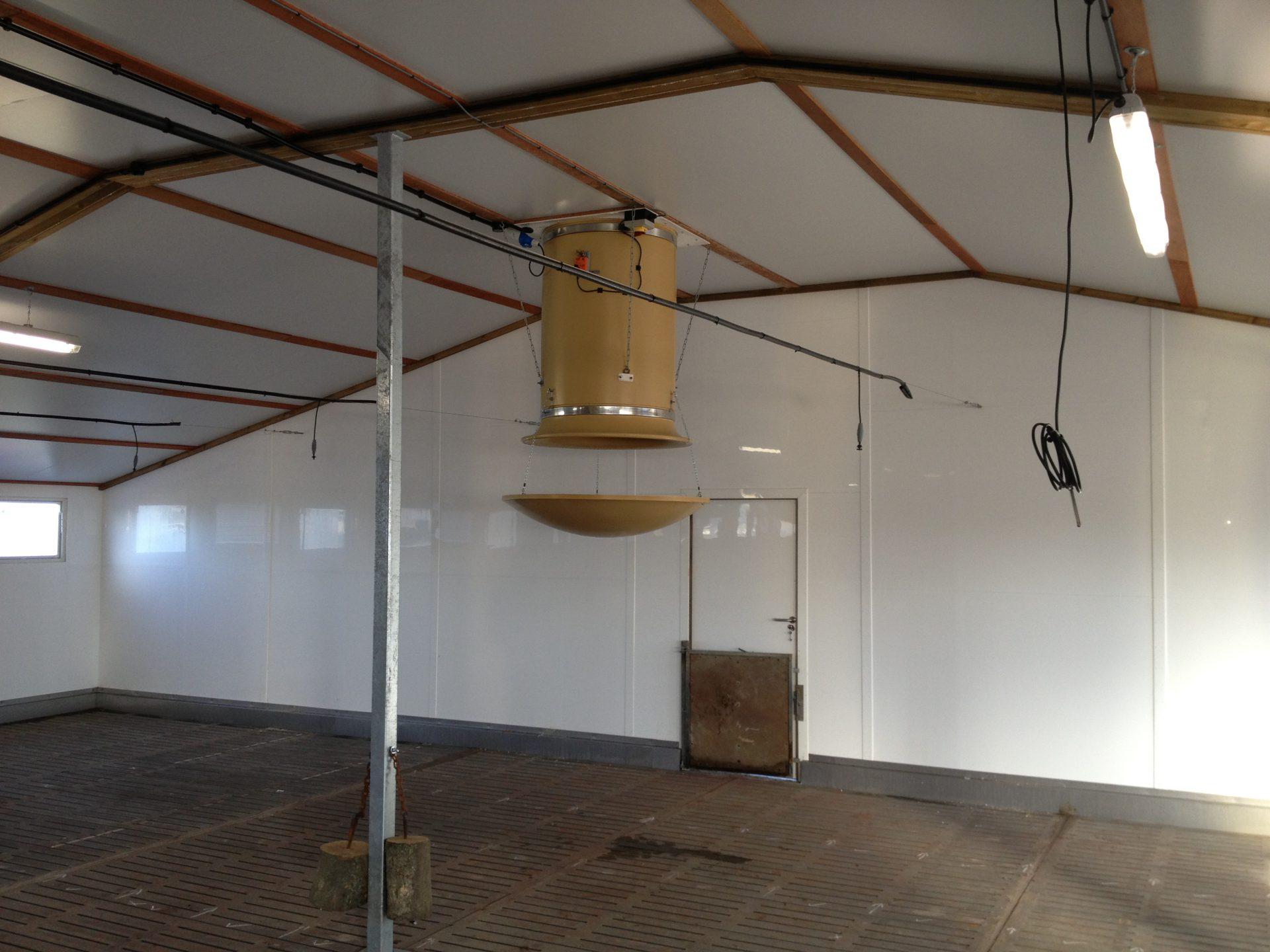 Ventilation chimney in pig farm - United Kingdom - TPI-Polytechniek