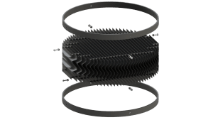 Light trap for ventilation chimney - TPI-Polytechniek