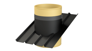 Roof plate ventilation chimney with profile - TPI-Polytechniek